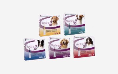 Vectra 3D ochrana proti blechám a klíšťatům Vašeho psa